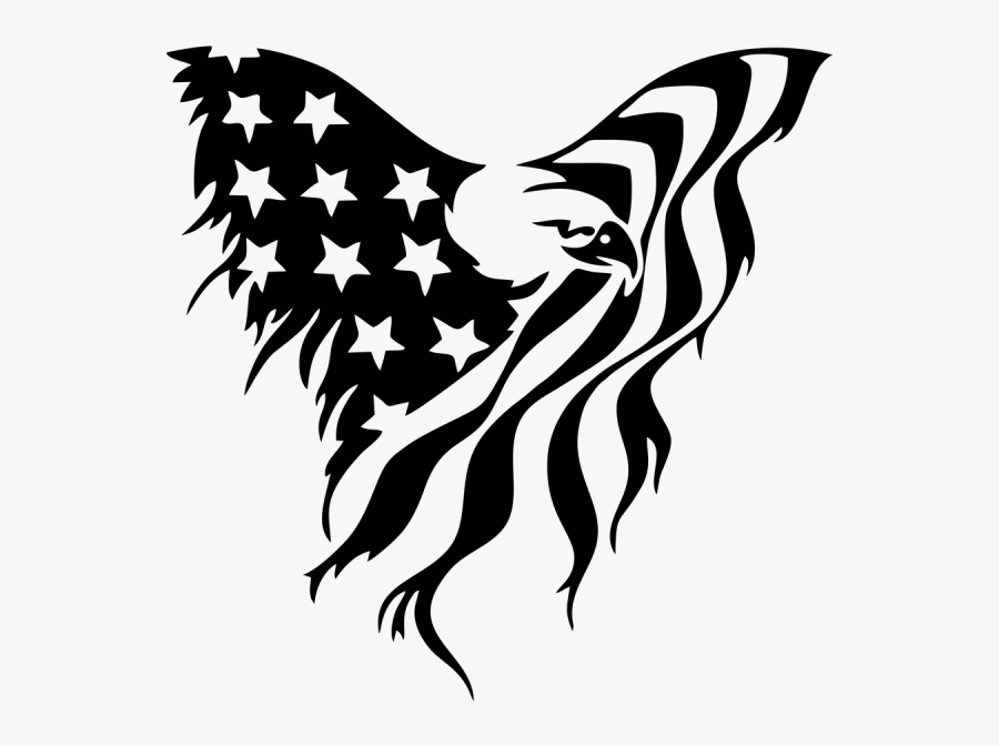 American Flag Eagle Clipart , Png Download - American Flag Eagle Drawing, Transparent Clipart