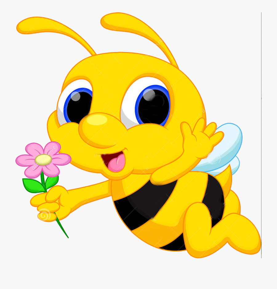 Wallmonkeys Cute Bee Cartoon Flying While Carrying - Cute Bee Bee Cartoon, Transparent Clipart