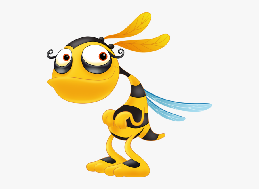 Transparent Bee Clipart - Funny Bee, Transparent Clipart