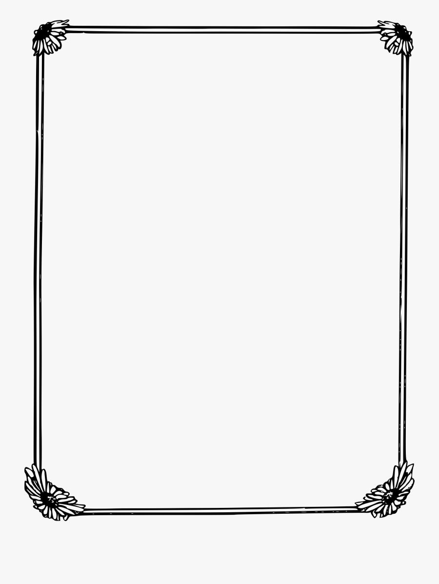 Clipart Daisy Big Image - Transparent Page Border Png, Transparent Clipart