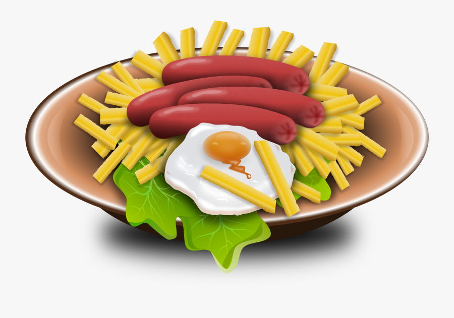 Chips And Fried Egg Clipart, Transparent Clipart