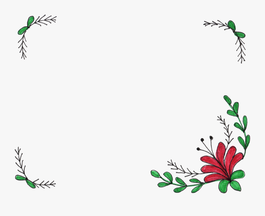 Simple Flower Frame Drawing Free Transparent Clipart Clipartkey