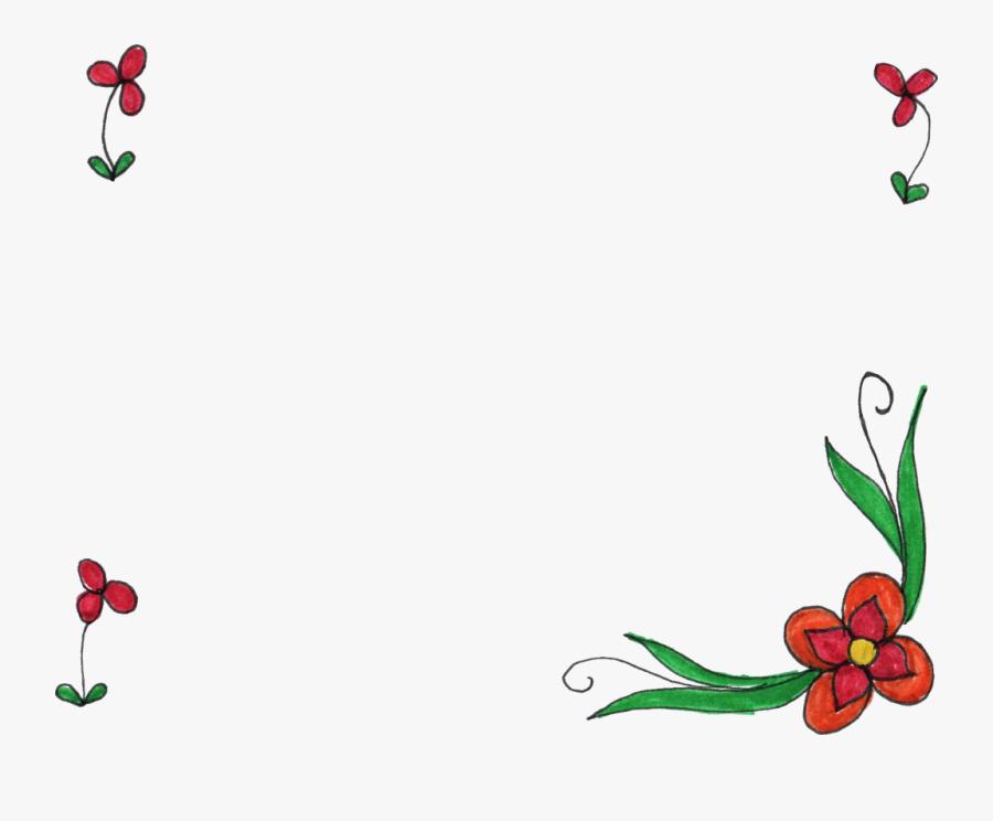 Simple Flower Frame Png, Transparent Clipart