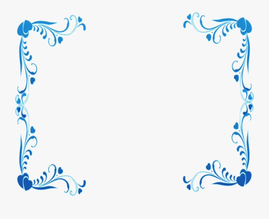 Transparent Blue Border Clipart - Border Design Simple Blue, Transparent Clipart
