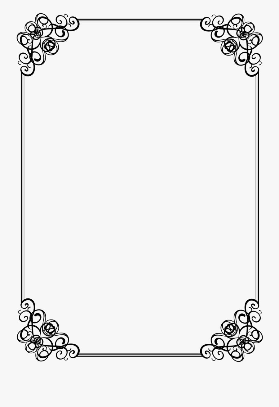 Black And White Border Designs Simple, Transparent Clipart
