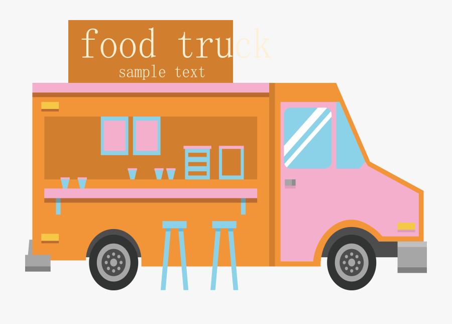 Transparent Food Truck Clipart - Food Truck Product Line, Transparent Clipart