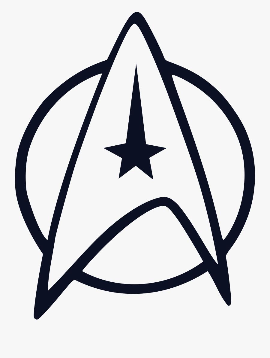 Transparent Star Trek Ship Clipart - Star Trek Logo, Transparent Clipart