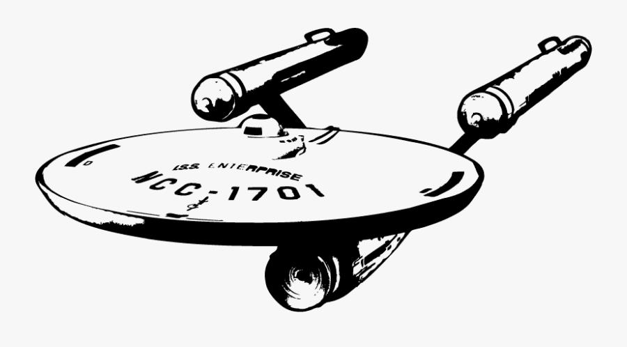 Wall Decal Starship Enterprise Sticker Star Trek - Star Trek Enterprise Svg, Transparent Clipart