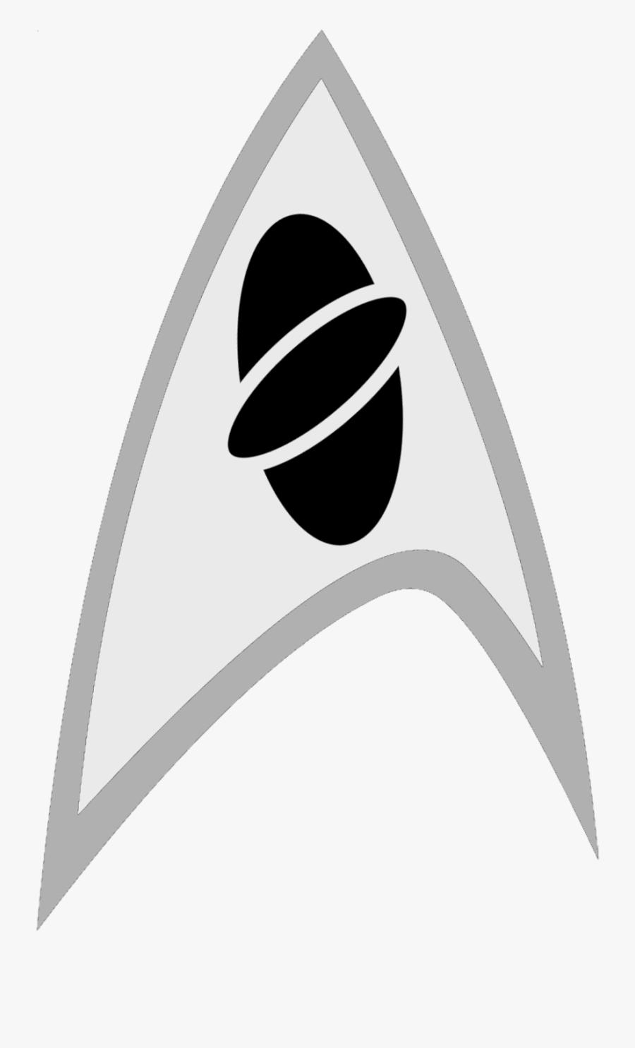 Starfleet Star Trek Science Symbol - Logo Star Trek Symbol, Transparent Clipart