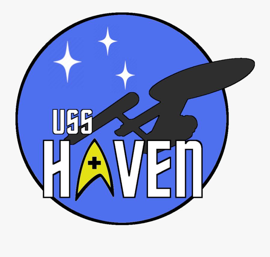 "Uss Haven Central Florida""s Star Trek Club - Emblem, Transparent Clipart"