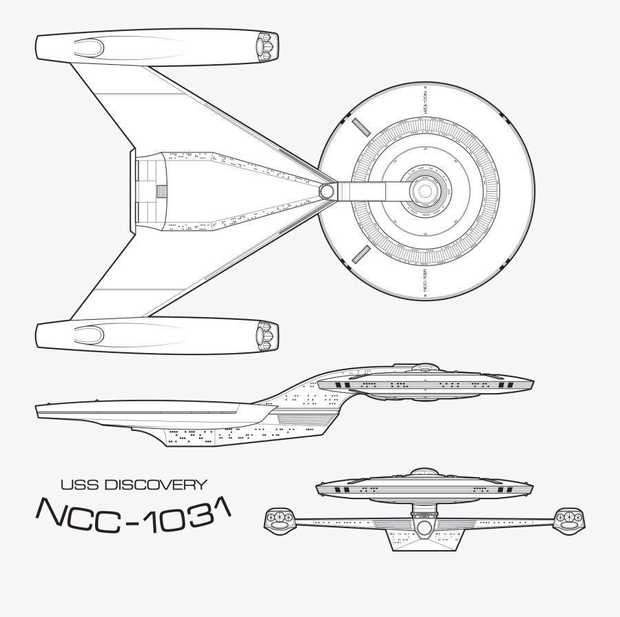 Transparent Blue Print Png - Star Trek Uss Discovery Blueprints, Transparent Clipart