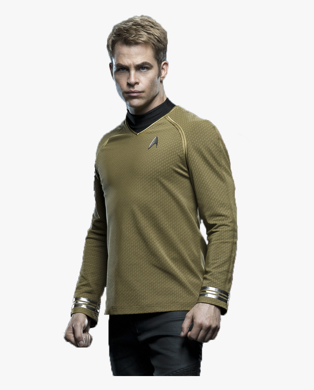 Chris Pine Png Picture - Star Trek Movie Captain Kirk Chris Pine, Transparent Clipart