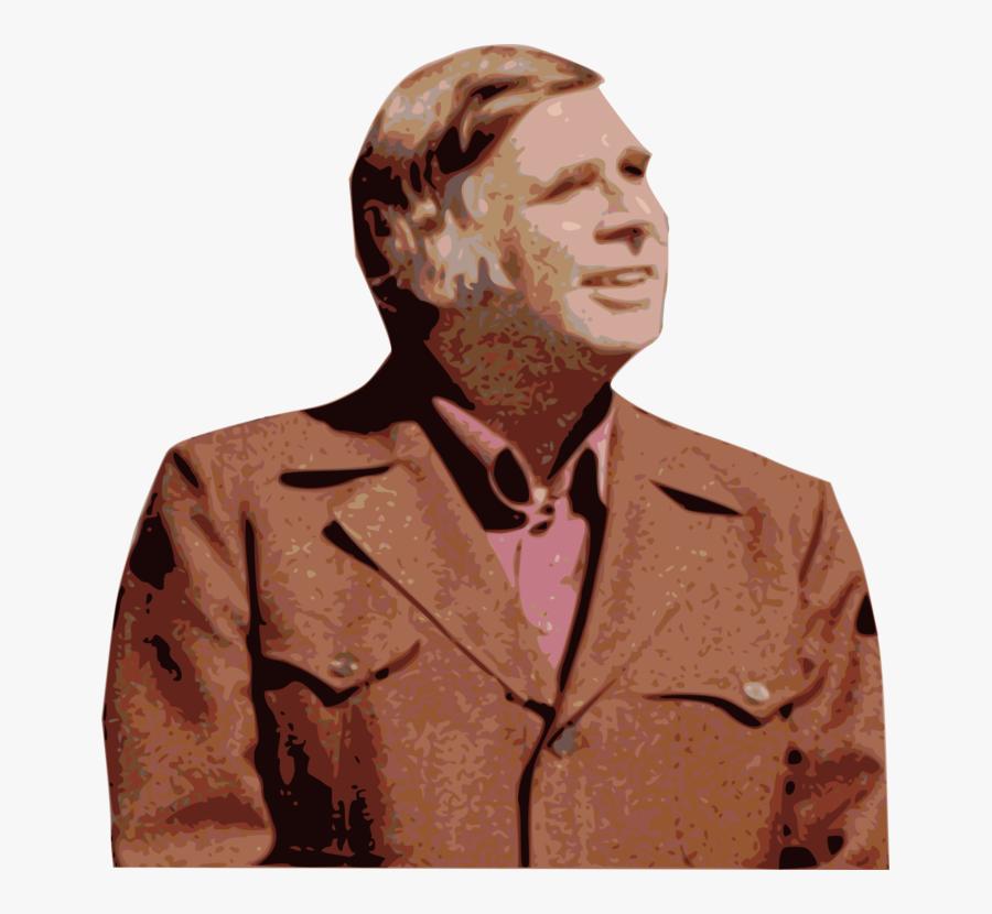 Art,jaw,gentleman - Gene Roddenberry, Transparent Clipart