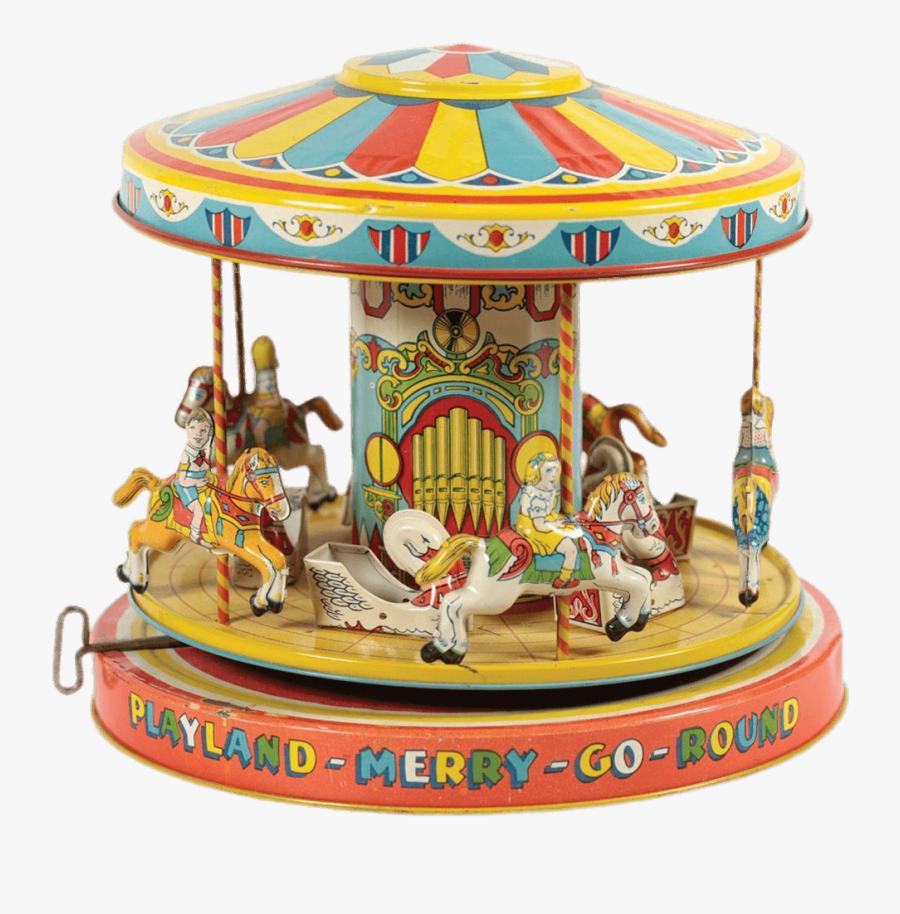 Vintage Toy Merry Go Round - Wind Up Merry Go Round, Transparent Clipart