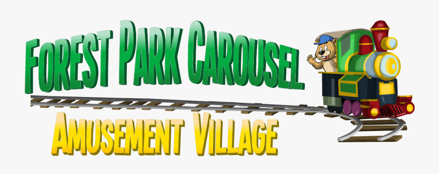 Clip Art Forest Park Carousel Amusement - Cartoon, Transparent Clipart