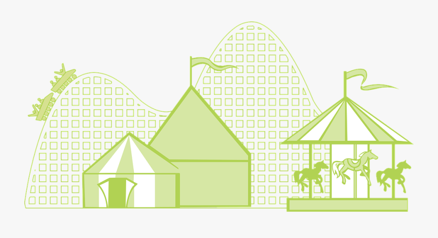 Circus, Tent, Carnival, Merry Go Round, Amusement, - Wahana Vector, Transparent Clipart