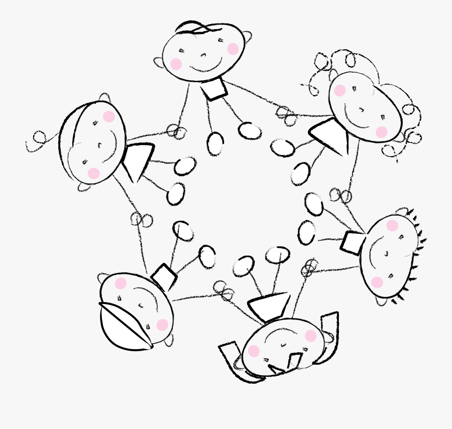 Children Holding Hands Clip Art, Transparent Clipart