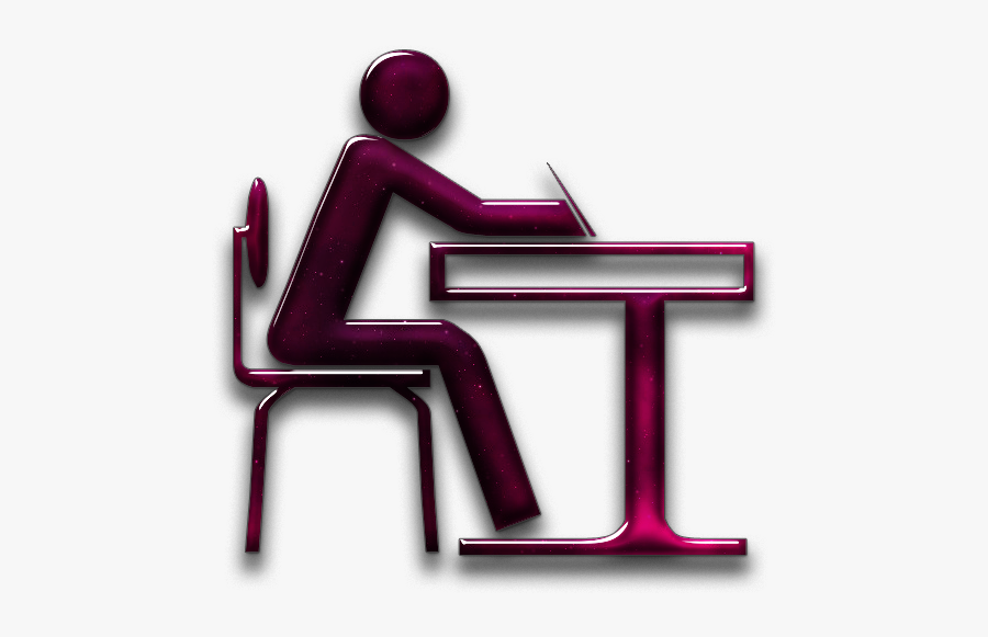 Student Sitting At Desk Icon - Online Quran Teaching Png File, Transparent Clipart