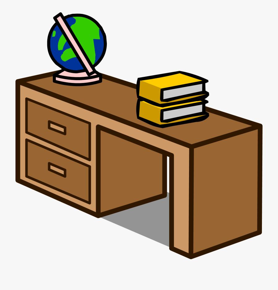 Transparent Student Desks Clipart - Book Is On The Desk, Transparent Clipart