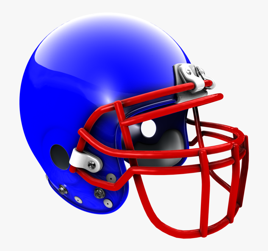 3d Rendered Helmet Tutorial Blue Football Helmet With Red Face Mask Free Transparent Clipart Clipartkey