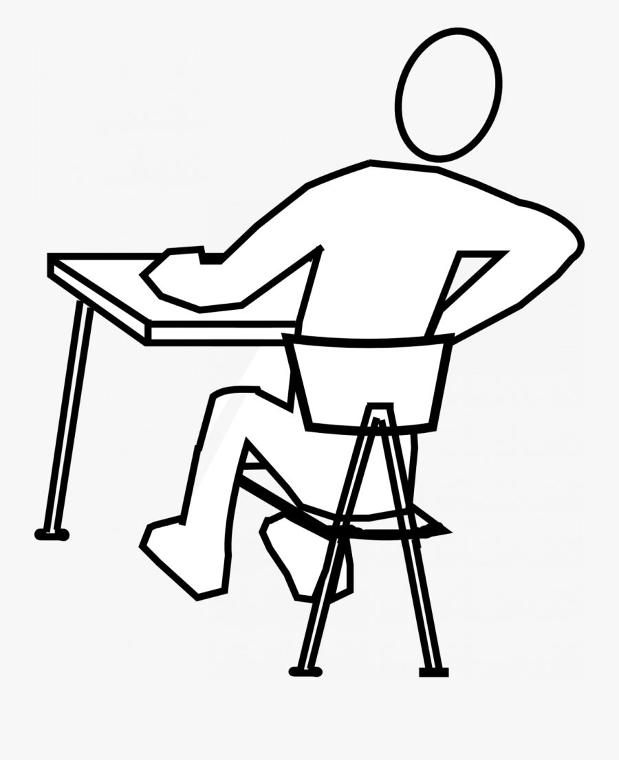 Draw A Person Sitting, Transparent Clipart