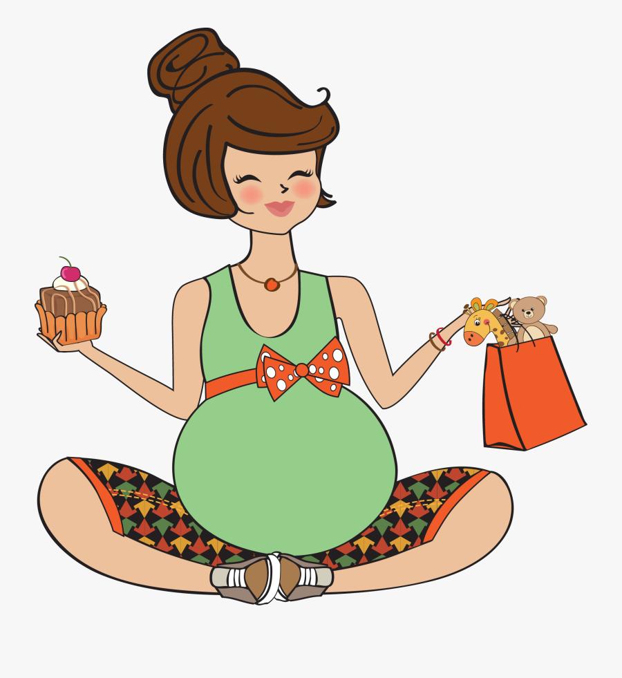 Para A Mamãe - Happy Birthday Pregnant Lady, Transparent Clipart