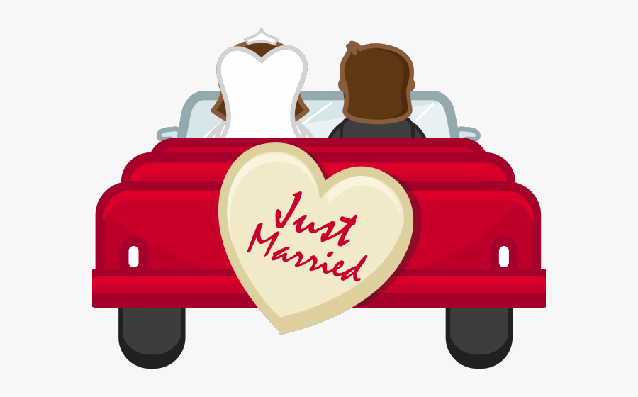 just married car png  free transparent clipart  clipartkey