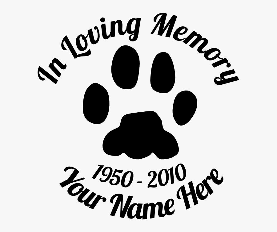 Pet Memorial Wall Vinyl, Transparent Clipart