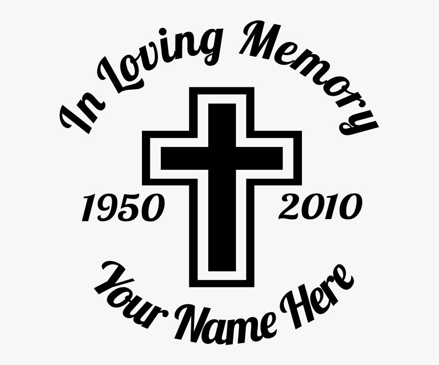 Memory Of Decals Cross, Transparent Clipart