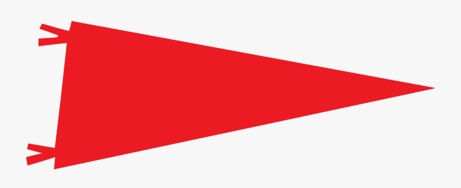 Banner Pennon Flag Email Beach - Red Flag, Transparent Clipart