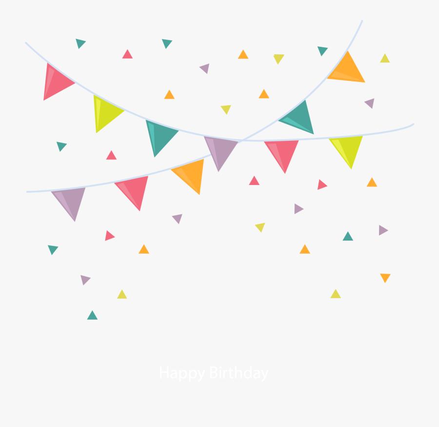 Cartoon Clip Art Flag - Triangular Flag Transparent, Transparent Clipart
