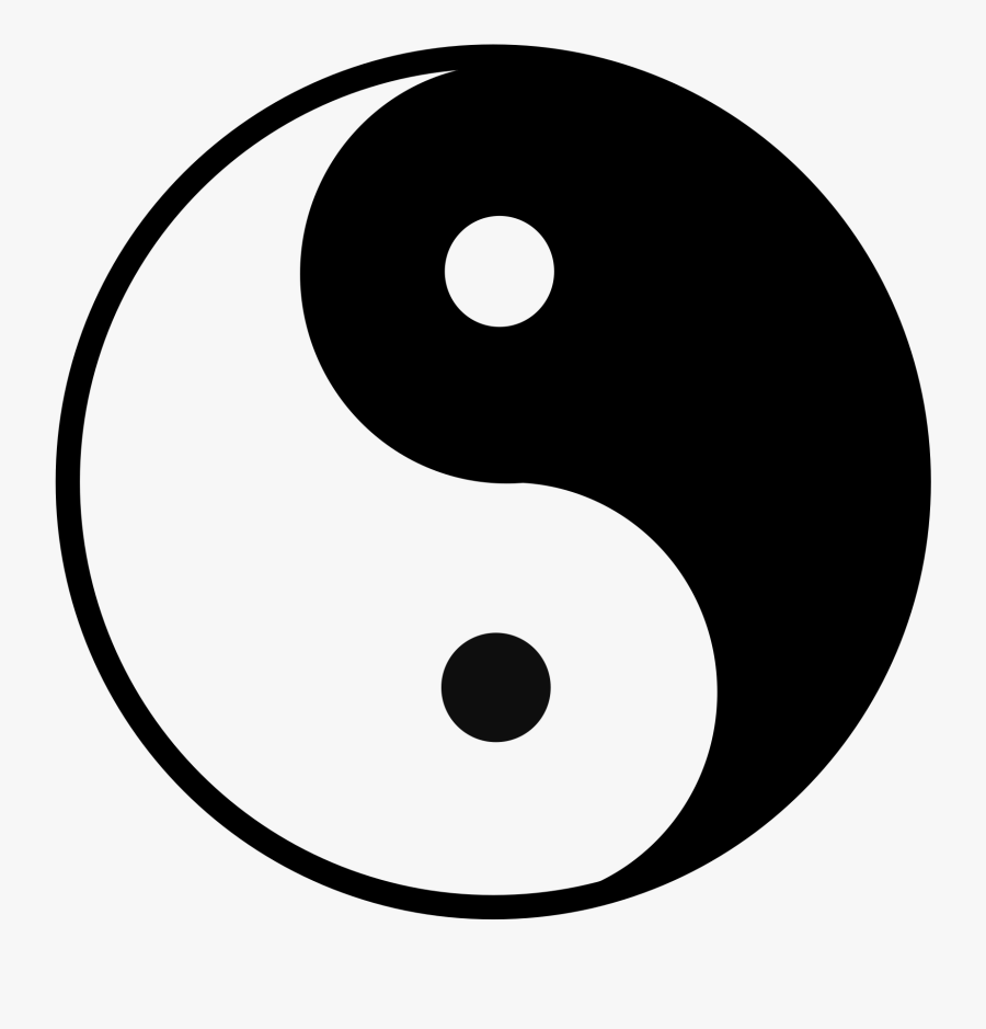 Yin Yang A4, Transparent Clipart