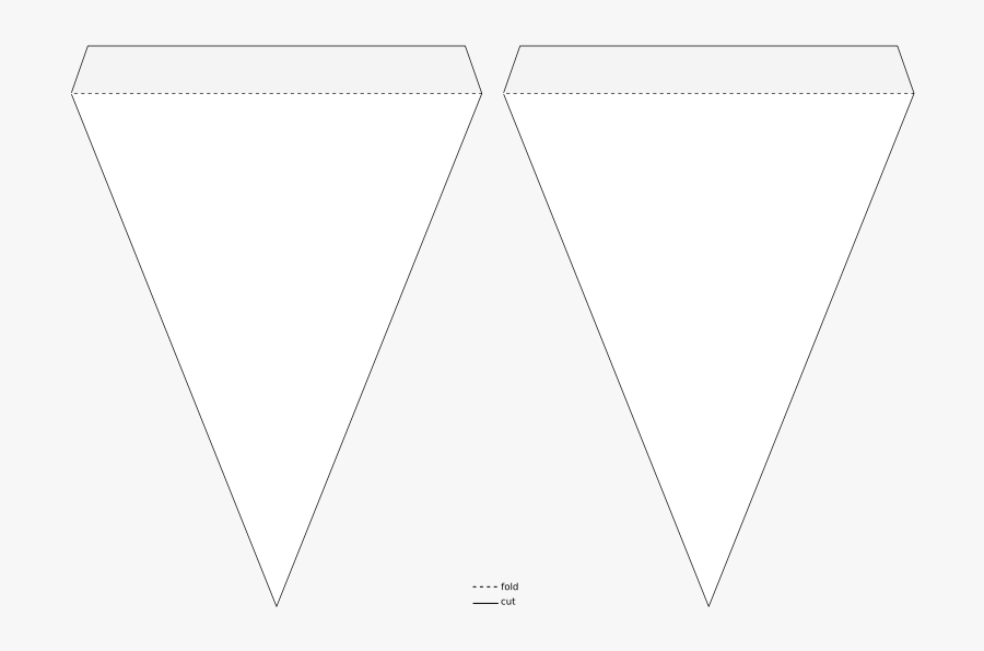 Triangle Banner Clipart - Pennant Banner Template Transparent, Transparent Clipart