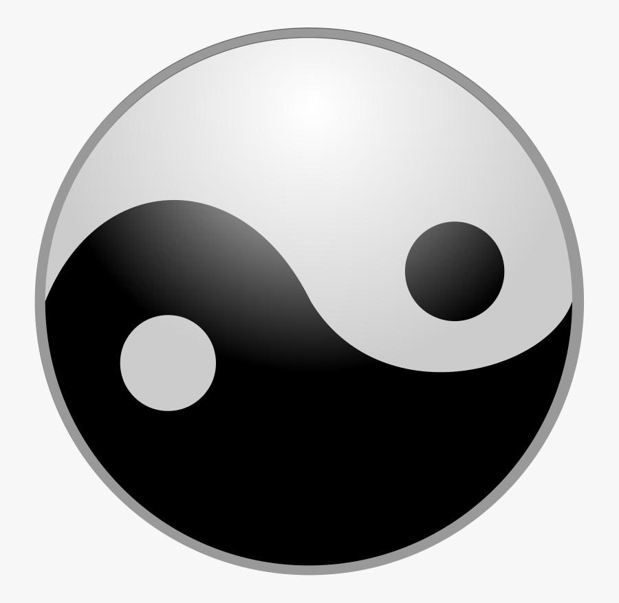 Yin Yang Clipart - Yin Yang Public Domain, Transparent Clipart