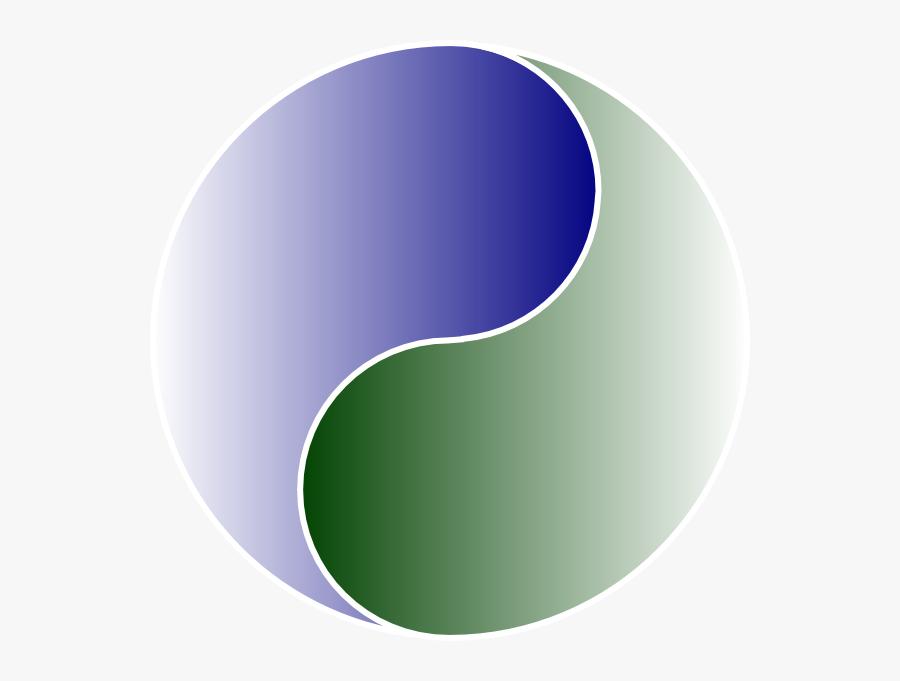 Extra Large Of Yin Yang Blue & Green Svg Clip Arts - Blue And Green Yin Yang, Transparent Clipart