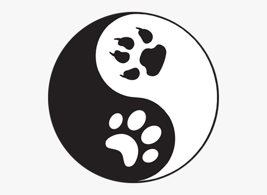 Paws Yin Yang Sticker - Yin And Yang, Transparent Clipart