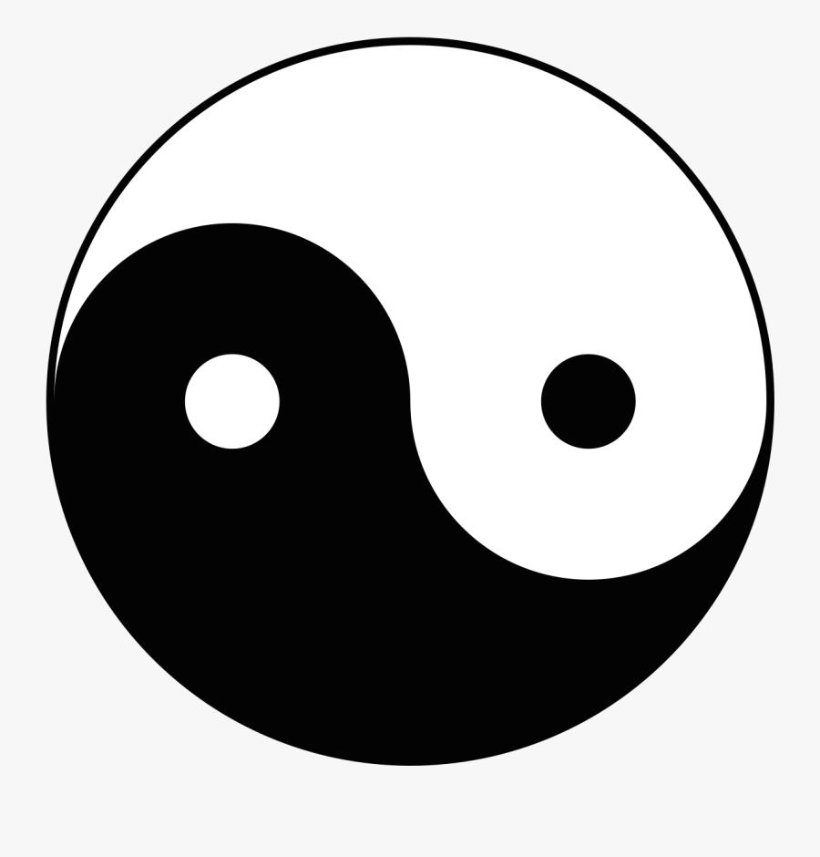 "The Yin-yang, Or ""diagram Of The Supreme Ultimate - Sideways Yin Yang Symbol, Transparent Clipart"