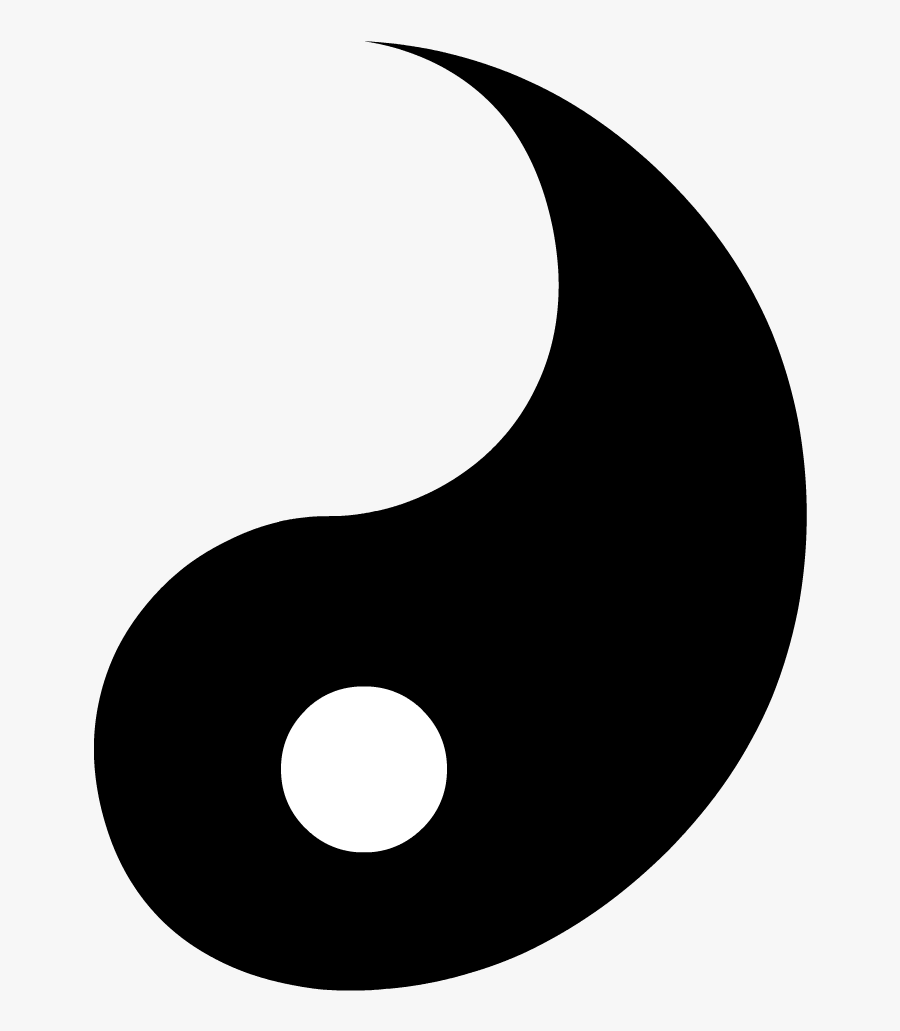Transparent Yin Yang Clipart - Yin And Yang Half, Transparent Clipart