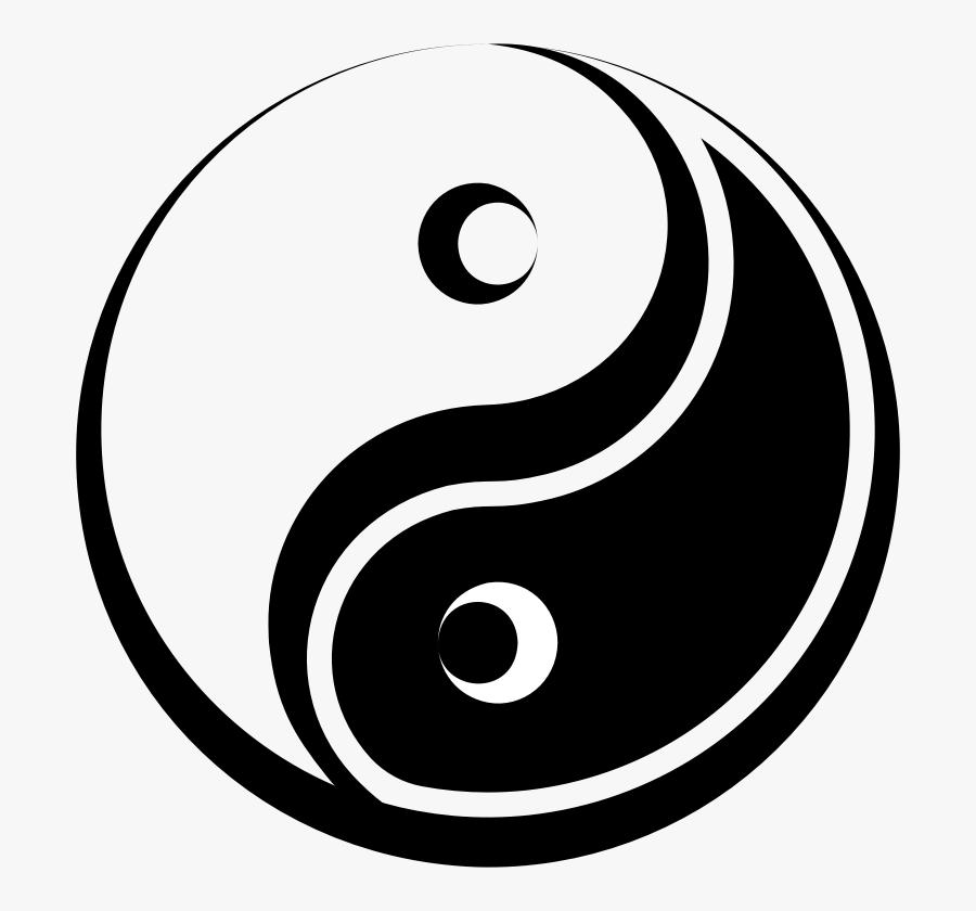 Stylized Yin Yang Symbol - Yin And Yang Symbol Png, Transparent Clipart