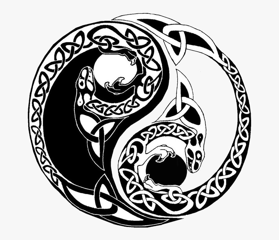 Transparent Yang Png - Yin Yang Celtic Knot, Transparent Clipart