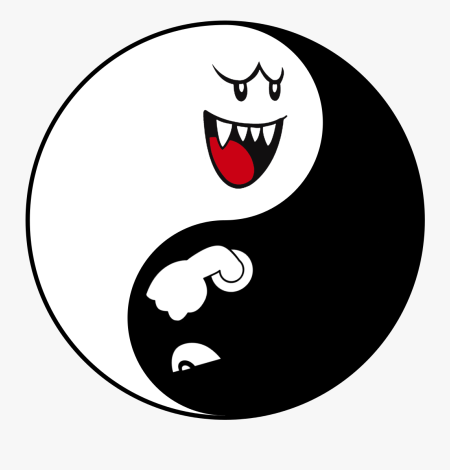 Boo And Bullet Bill, Transparent Clipart