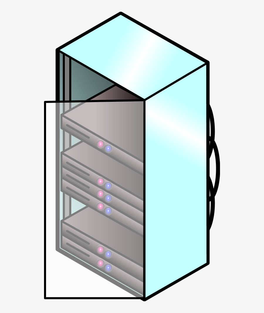 Vector Clip Art - Rack Of Computer Icon, Transparent Clipart
