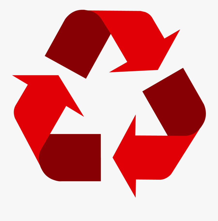 Red Universal Recycling Symbol - Recycle Png, Transparent Clipart