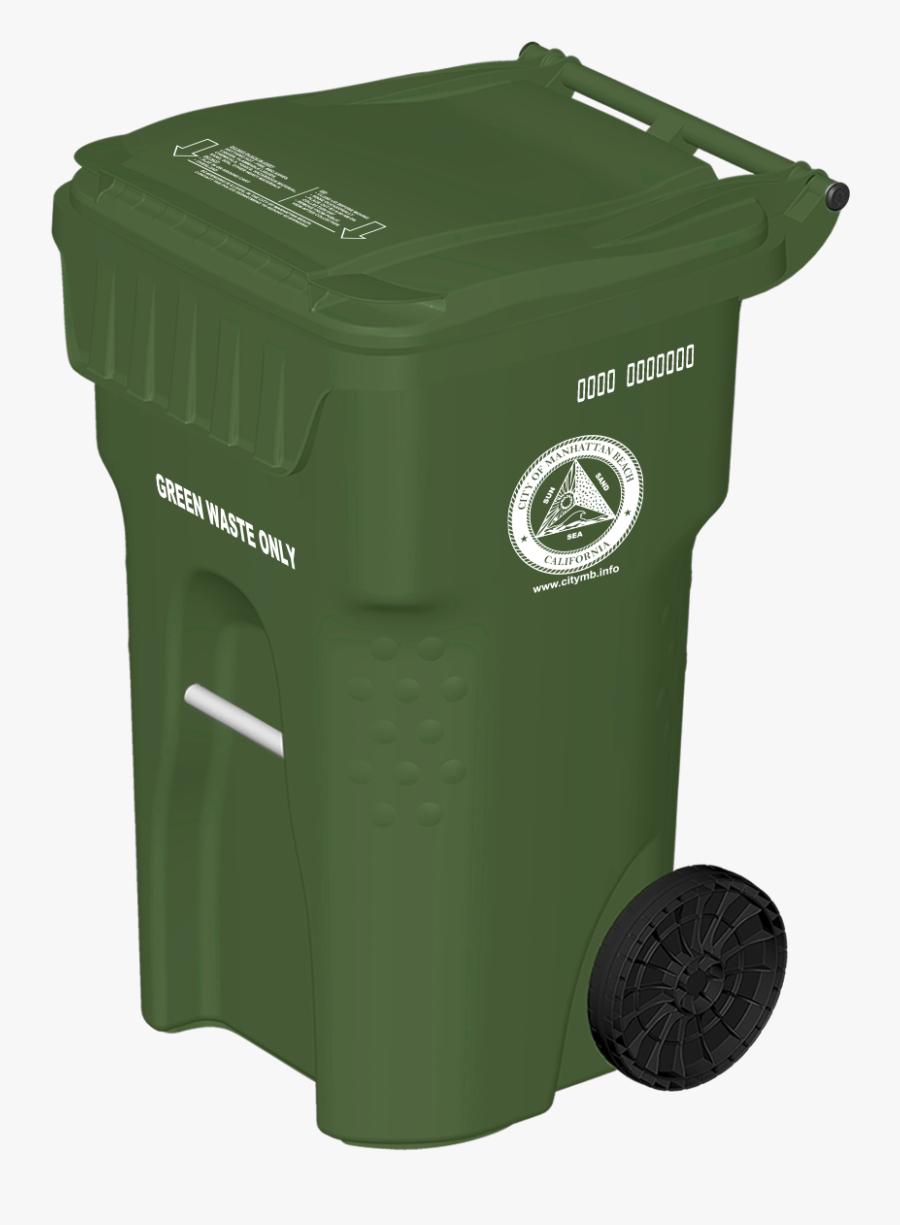 Basic Service Waste Management Cart Ⓒ - Black Trash Bin Png, Transparent Clipart