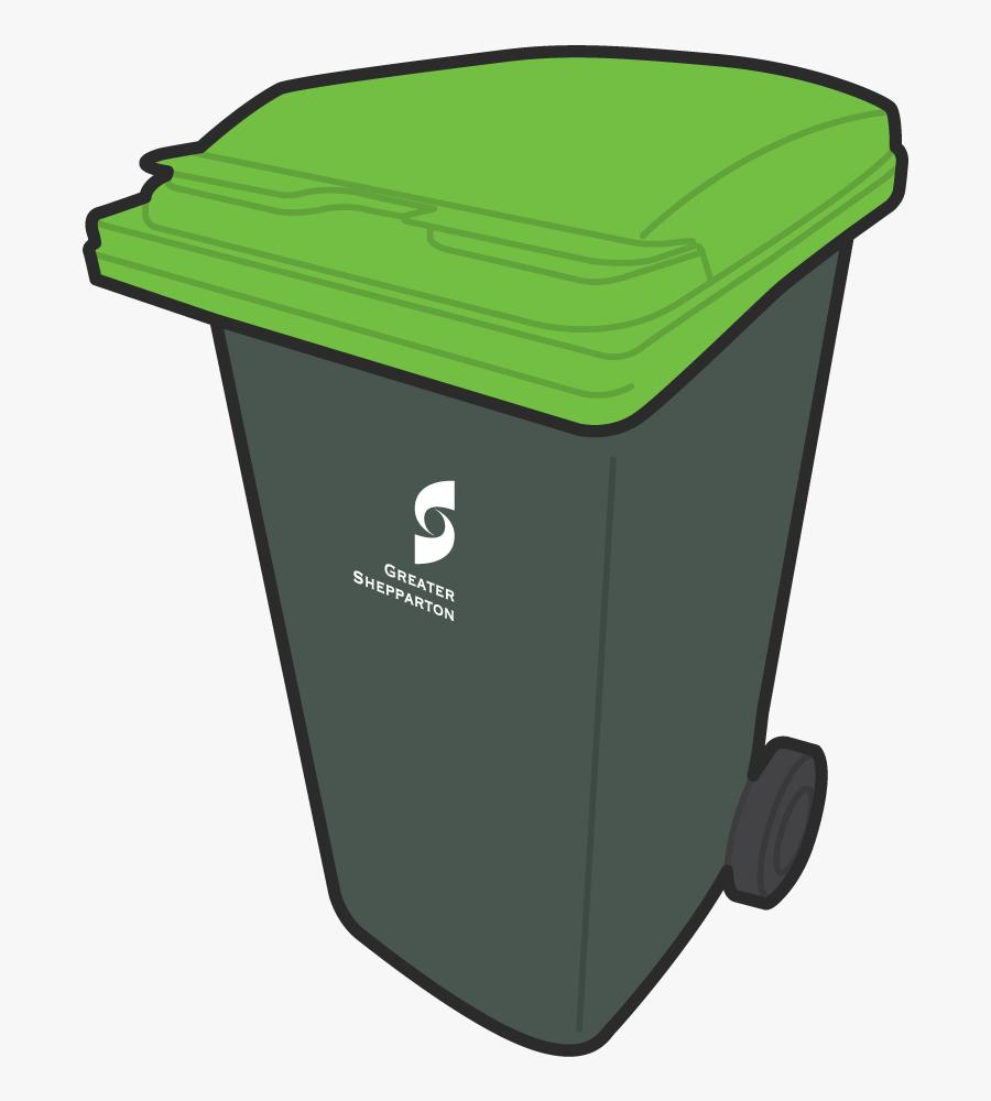 Greater Shepparton City Council - Green Bin, Transparent Clipart