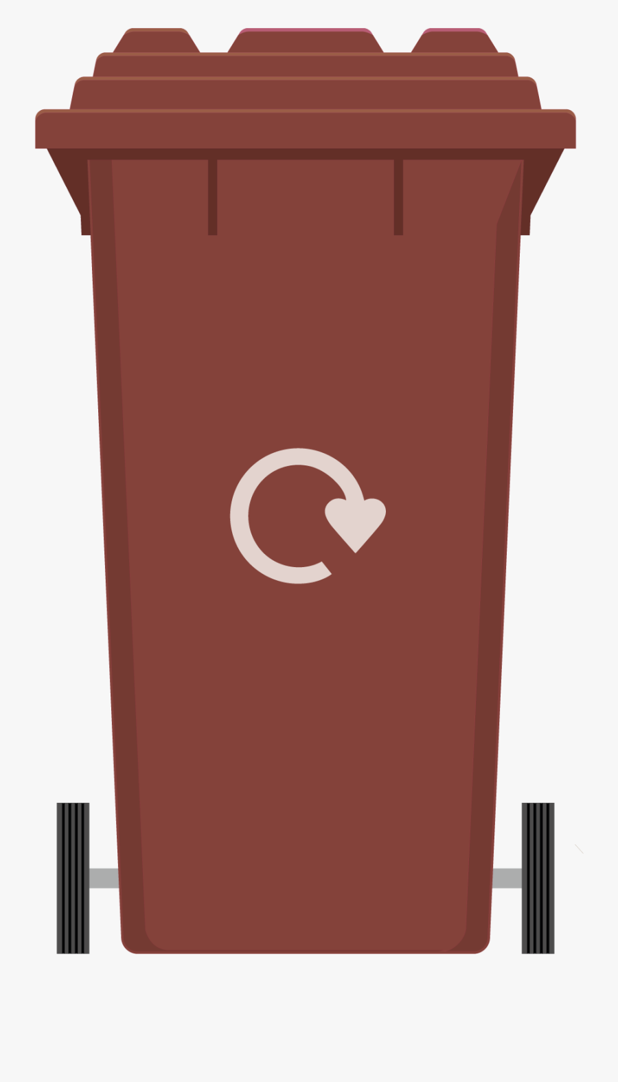 Bin Clipart Red - Compost Bin Brown Egg, Transparent Clipart