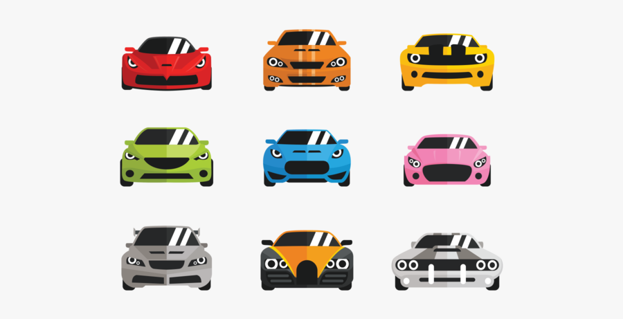 Vector Carros Flat Icons Style - Transparent Icon Png Car Flat Icon, Transparent Clipart