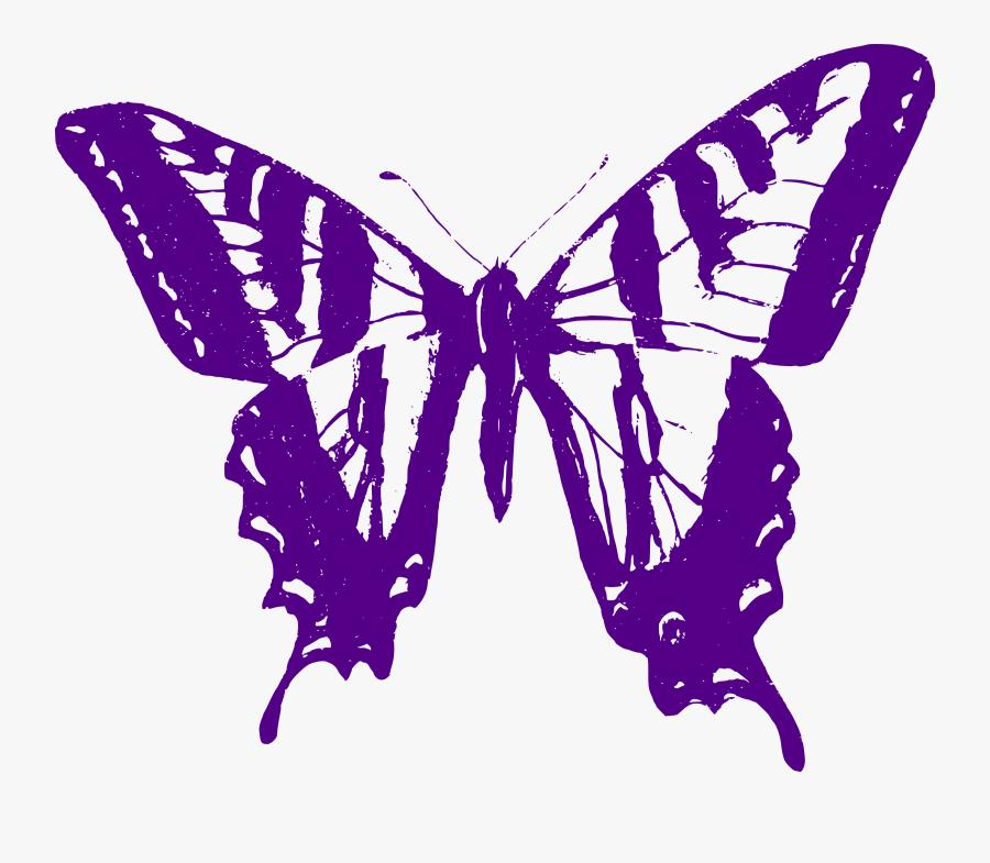 Transparent Purple Butterflies Clipart - Eastern Tiger Swallowtail Caterpillar Anatomy, Transparent Clipart