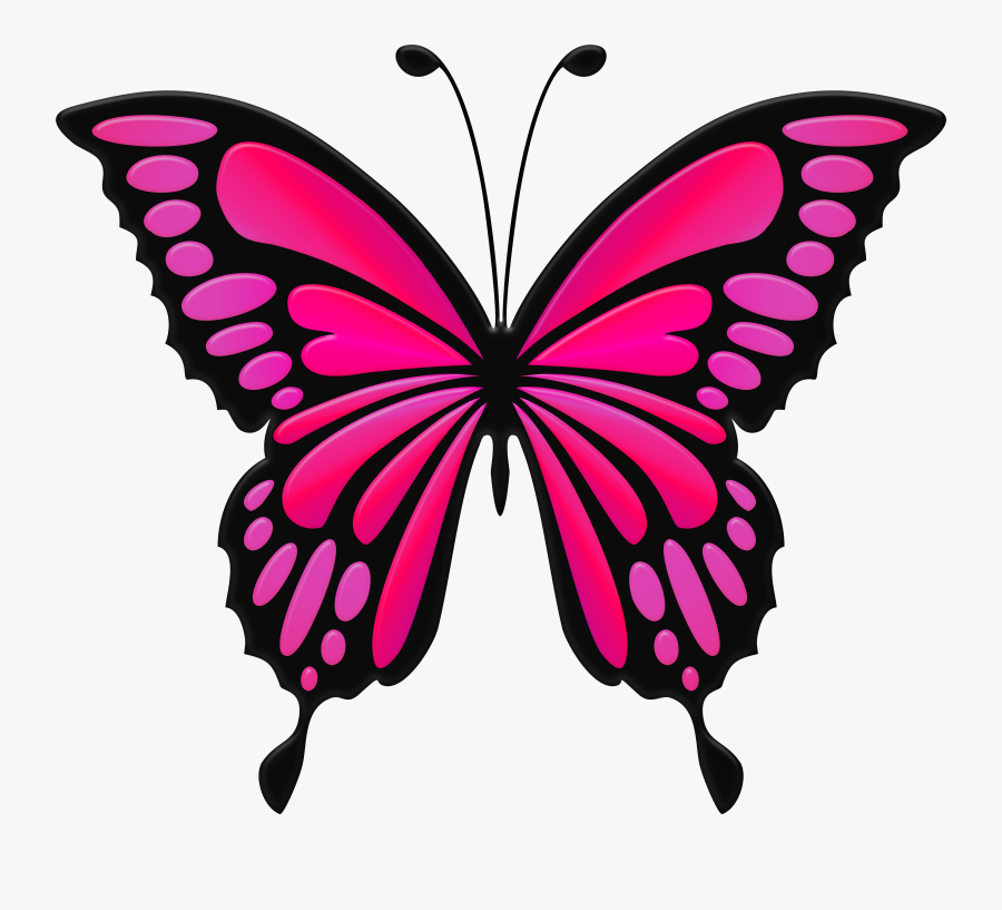 Butterfly Cliparts Transparent Pink - Blue Butterfly Clipart, Transparent Clipart