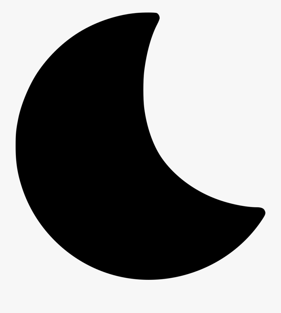 Crescent - Black Half Moon Png, Transparent Clipart